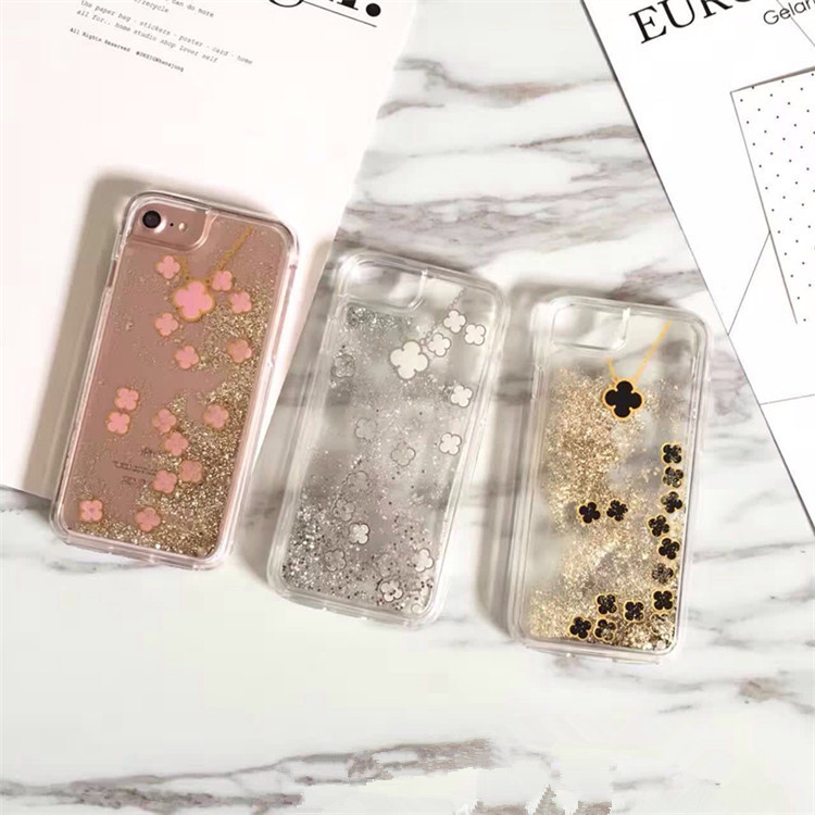 New design popular flowing Clover liquid quicksand case cover for iphone 5s