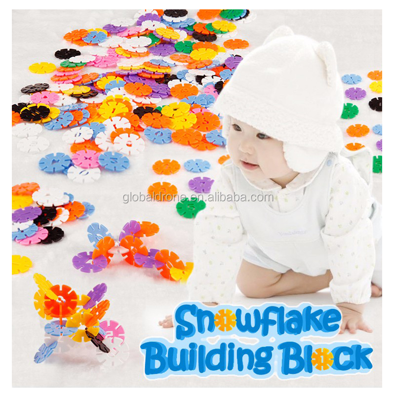 Plastic Numbers And Letters Bricks DIY Fun Kit Educational Toys Kids Snowflake Building Blocks For Children