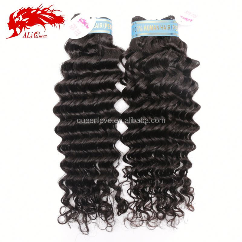 Natural Black Color 6A Grade Cheap Virgin Remy Peruvian Deep Wave Hair Weave Factory Price