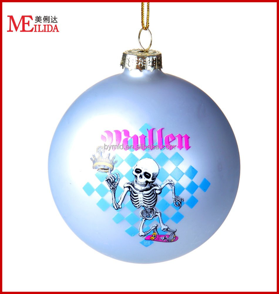 wholesale painted matt glass christmas ball for Valentine decoration