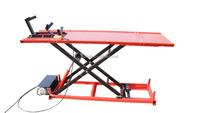 0.75 KW Nominal power Scissor Motorcycle lift table with CE