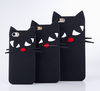 2016 Shenzhen design black cat silicone cellphone case for iphone 5s 6/6s 6plus