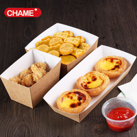 2017customized printed disposable hot dog paper food trays