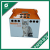 CUSTOMIZED PAPER MADE PORTABLE DOG CARRIER CARDBOARD CAT CARRIER CORRUGATED CAT CARRYING BOX