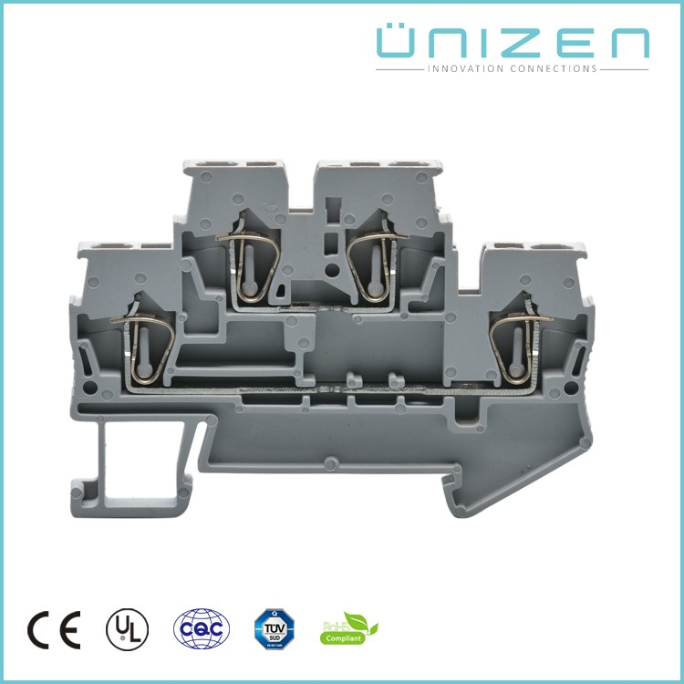 UNIZEN Spring cage clamp din rail mounted terminal block