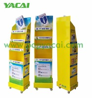 Custom design logo printed rotatory corrugated display racks paper display stand for pharmacy retail dump bins display