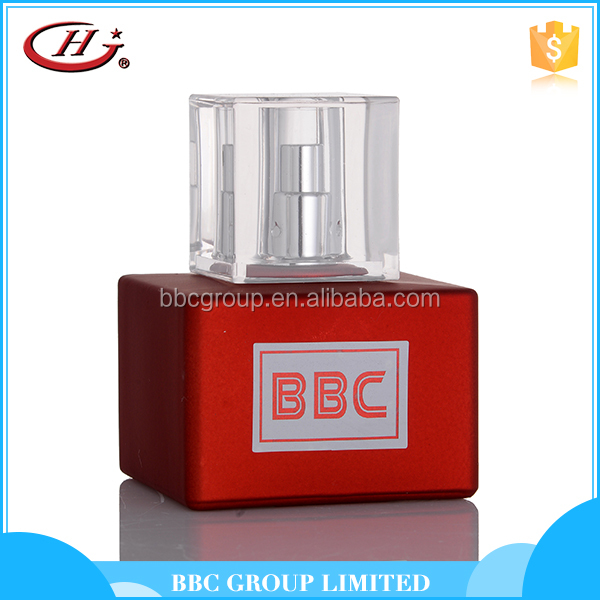 Unique design red square bottle alcohol free perfume