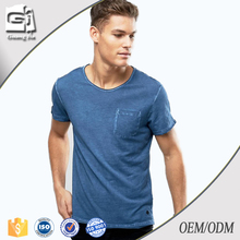 Guangjia mens custom cotton promotion stone washed cheap plain t-shirts