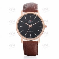 Meaningful vintage leather watches, genuine leather de longe quartz watch