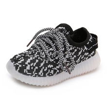Hot selling Yeezy shoes kids lighting shoes led shoes
