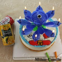 Flower Music Birthday Candle