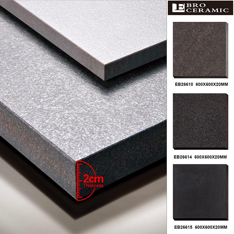 Ebro newest 2cm waterproof outdoor decking tile for many applications 600x600 mm
