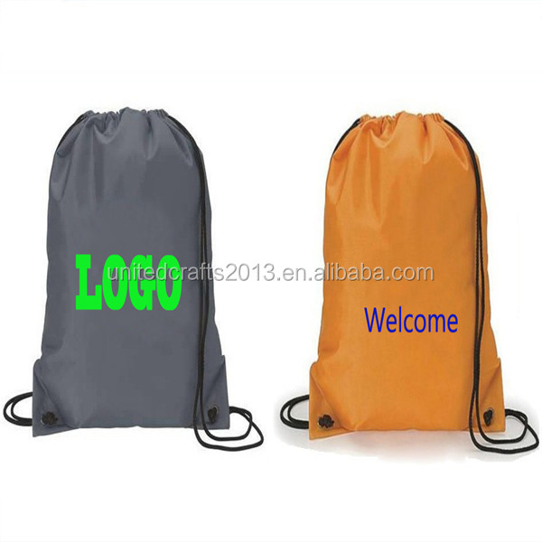 Customized Wholesale sports cheap draw string backpack drawstring bag for promotion polyester drawstring backpack