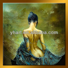 Wholesale Nude lady painting art for decor