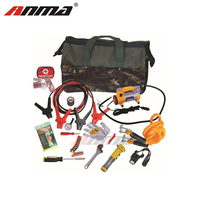 Car Emergency Roadside Kit Auto Safety Road Assistance Kit Contains Ice Scraper Booster Cables Flashlight Tow Strap and More