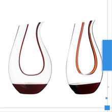 Lead Free Crystal Glass Large Glassware Product Glass Wine Decanter with red tie
