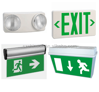 UL recessed exit sign