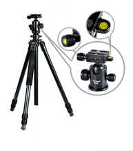 Q13720 Sinno A-2325 Portable SLR DSLR Camera Aluminum Tripod 3 Section Stable with QW68 Ball Head Max Loading 10KG