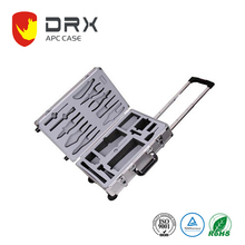 Aluminum Case 18 Inch Tool Box with Wheel Auto Fixing Trolley