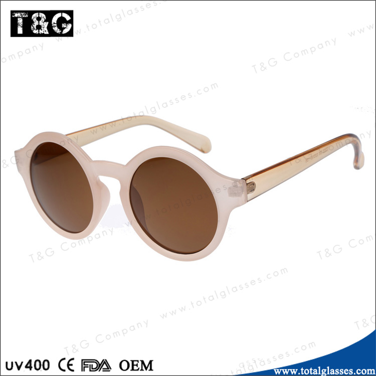 Round sun glasses for women retro style China brand sunglasses factory promotional eyewear