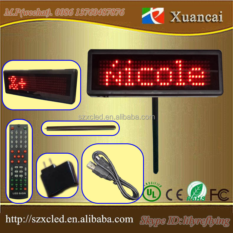 Wholesell LED DIP High Brightness mutlti-colors built-in lithium battery LED Placard notice board