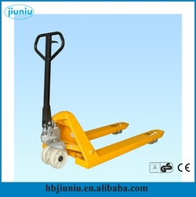 Supplying hand pallet truck rubber wheel, small electric pallet truck/ hand pallet truck china made