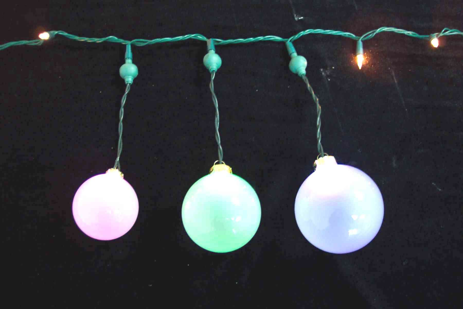 LED Changing Colors or Twinkling Glass / Plastic Ball Lights