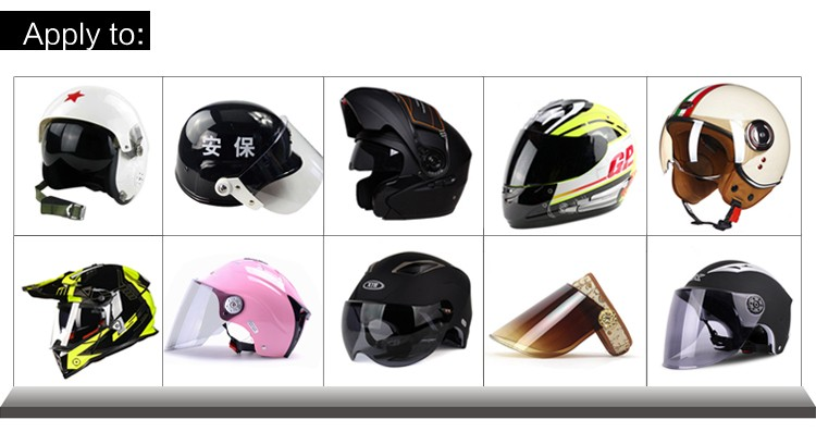 Fashion&Safety motorcycle helmet viosr high quality plastic