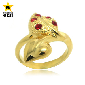 custom made brass alloy pewter stainless steel metal fake gold ring jewelry