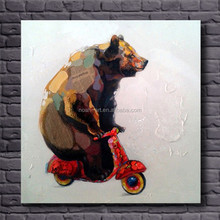 modern textured canvas wall art animal paintings