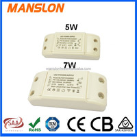 Hot sale!3W 5W 7W constant current 300mA 350mA 500mA LED bulb driver with CE TUV SAA LED switching power supply