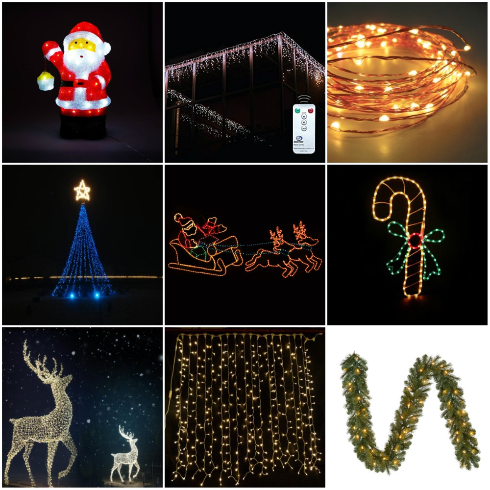 Outdoor Connectable LED Christmas Fairy Lights for Holiday Decoration IP44
