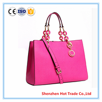 2016 new leather models bags with logo for mk fashion handbag