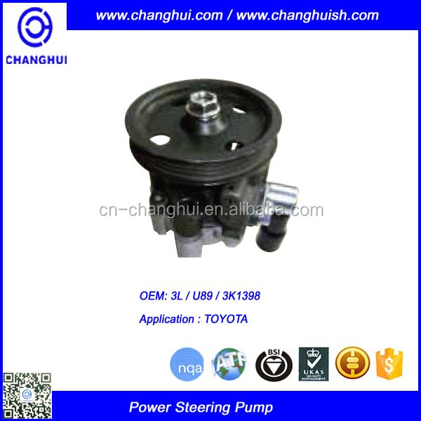 3L / U89 / 3K1398 Power Steering Pump FOR Toyota