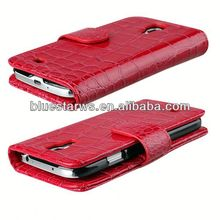 made in china for samsung s4 pu leather case wholesale price flip card case for galaxy s4