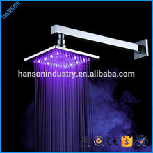 Low Price Bathroom Rain Overhead Bath Rainfall Light Water Saving LED Shower Head