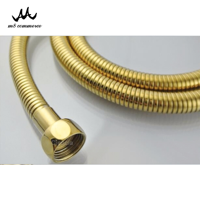 Luxurious Golden Plating Small Teeth Close Stainless Steel Flexible Shower Hose