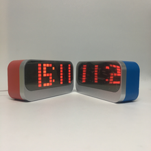 ABS material lighted table clocks, stylish small led digital table clock