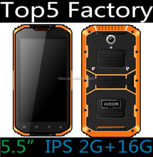 Shenzhen factory cheapest 5.5inch 4G LTE IPS HD 1280*720 rugged water phone with GPS FM dustproof mobilephone military phone