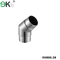 135 degree stainless glass railing adjustable steel pipe connector