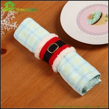Christmas Decoration Supplies Napkin Cover Christmas Santa Clause Napkin Package Sets Cover handmade napkin ring