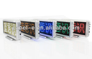 Display 6 letters at once,red,blue,yellow color led aluminum sign boards small led sign