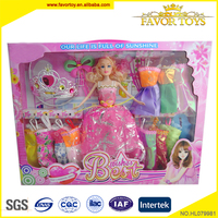 Soft pvc material 11 inch diy toy lovely french dolls for fashion girls