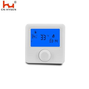 Knob type simple digital gas boiler battery thermostat with week programmable