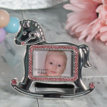 Baby Shower Favors Silver Rocking Horse Baby Photo Frame View Baby