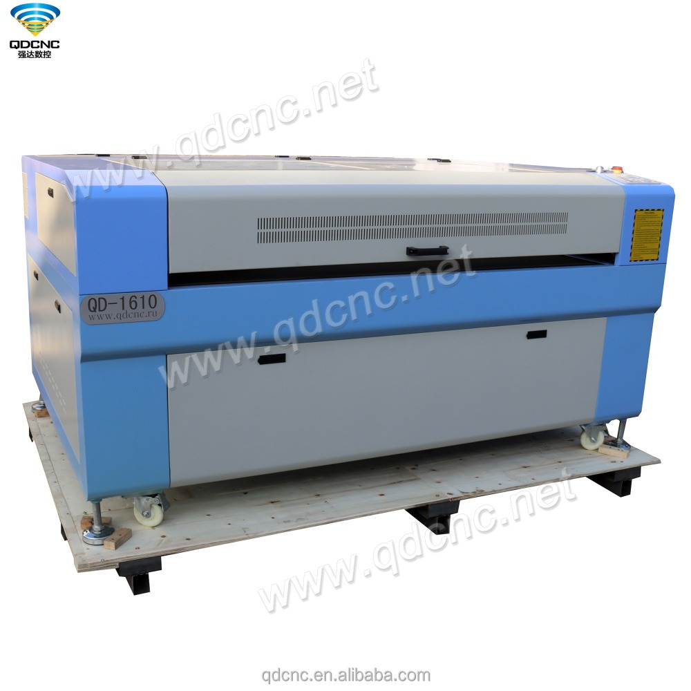 laser machine price 1600mm*1000mm co2 laser cutter 100W, 150W, 180W QD-1610(QD-1290/1390/1490/1410/1318/1325/1530 optional)