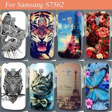 2017 New hot painting Colored Hard Back Case for Samsung Galaxy S Duos S7562 7562 Cover Skin cell phone cases