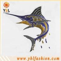 marlin fish popular desing iron-on foil transfer for fashion t shirt