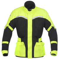 Mens cheap high reflective yellow Enduro Armor Motorcycle Jacket