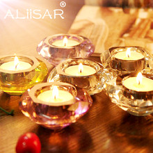 China Factory Crystal Diamond Shape Tealight Candle Holder